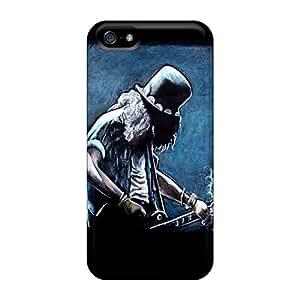 JonBradica Iphone 5/5s Shock-Absorbing Hard Phone Cases Customized Trendy Guns N Roses Slash Pattern [CXE12746QuaW]