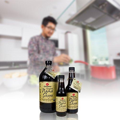 Ohsawa Nama Shoyu, Organic and Aged in 150 Year Cedar Kegs for Extra Flavor - Japanese Soy-Free Sauce, Low - Sodium, Non-GMO, Vegan, Kosher - 32 oz by OHSAWA® (Image #1)'