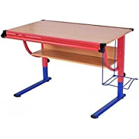 SKB Family Adjustable Wooden Drafting Table Workstation Drawing Desk drafting table features padded stool storage