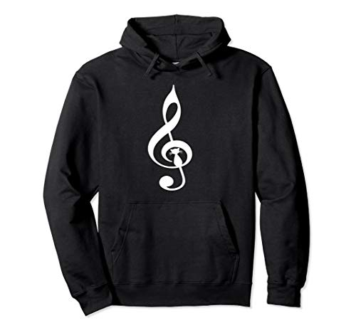Hairless Cat Funny Halloween (Musical Cat Hoodie Treble Clef Funny Kitty Cat Music)