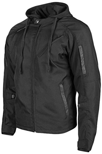 Speed and Strength Fast Forward Textile Men's Street Motorcycle Jacket - Black/Large