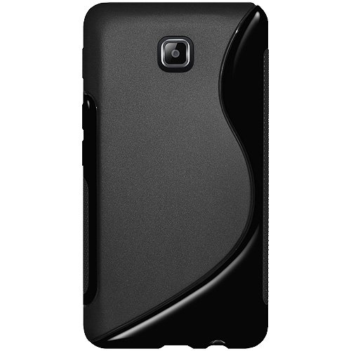 Amzer AMZ95109 Soft Gel TPU Gloss Skin Fit Case Cover for Samsung Galaxy Player 4.2 - 1 Pack - Retail Packaging - Black