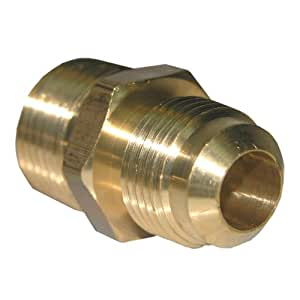 LASCO 17-4849 1/2-Inch Flare by 1/2-Inch Male Pipe Thread Brass Adapter