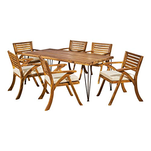 Christopher Knight Home Ophelia Wesley Patio Dining Set, 72