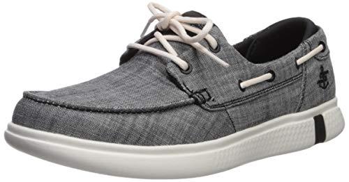 Skechers Women's Glide ULTRA-16113 Boat Shoe, Black/White, 7.5 M US