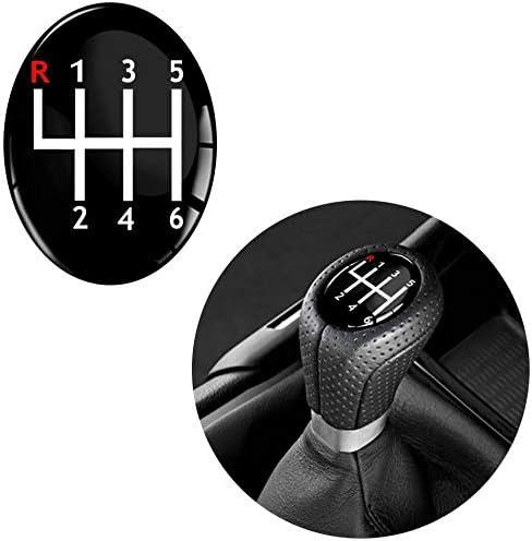 Skinoeu 1 X Schalthebel Aufkleber Oval Schaltknauf Emblem 30 X 38mm Silikon Sticker 6 Gang Auto Moto Zubehör Tuning Jdm S 13 Auto