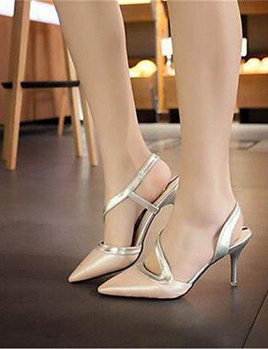 GGX/ Damenschuhe-High Heels-Kleid / Party & Festivität-Kunstleder-Stöckelabsatz-Absätze-Rosa / Weiß white-us8.5 / eu39 / uk6.5 / cn40