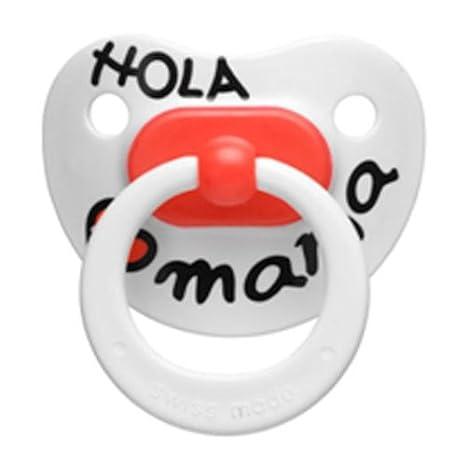 Bibi - Chupete Hola Mama Silicona Bibi 6-12m: Amazon.es: Bebé