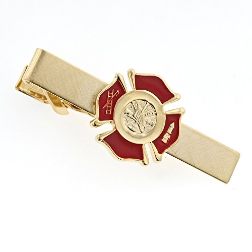 Boxed Tie Fighter - JJ Weston Firefighter Emblem Tie Clip. Made in The USA