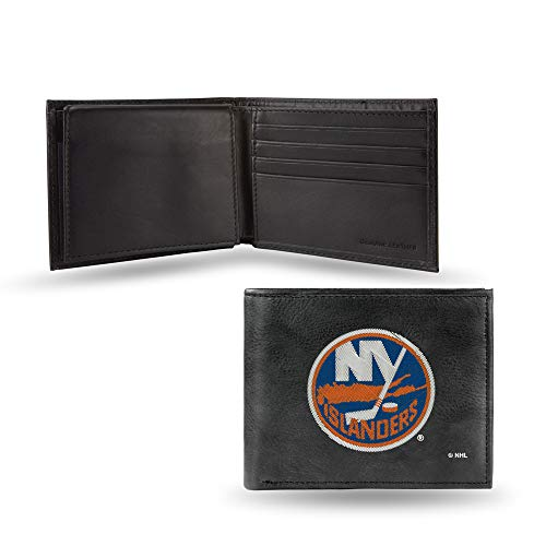 Rico New York Islanders Embroidered Bi-Fold Leather Wallet