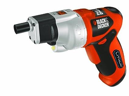 Black+Decker PP360LN Atornillador sin cable 3,6 V de litio con cabezal pivotante (3.6 W), 3.6 V, Negro, Naranja, Plata