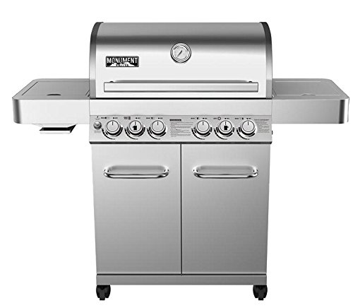 4-Burner Propane Gas Grill in Stainless with LED Controls...
