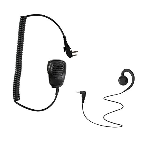- Maxtop APM100ARP3000-H4 Light Duty Shoulder Speaker Microphone + Swivel Listen Only Earpiece for Hytera HYT