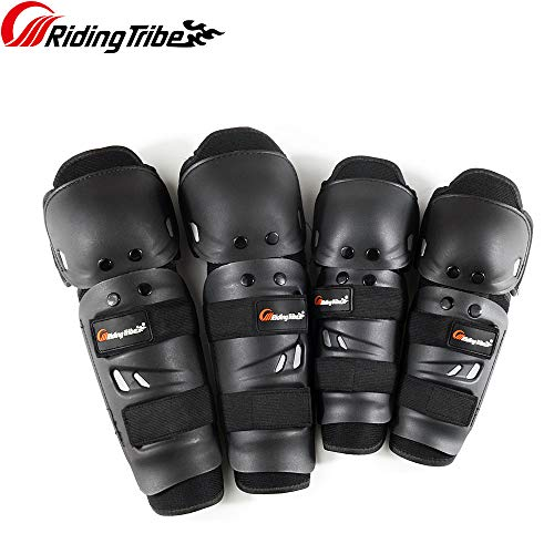 Riding Tribe Knee and Elbow Pads Adult and Child Windproof Protective Gear for Multi Sports Riding Skateboarding Skating Cycling Motorcycle BMX Bicycle Scooter, Set of 4pcs