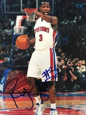 (Signed Rodney Stuckey Photograph - 8x10 - Autographed NBA Photos)