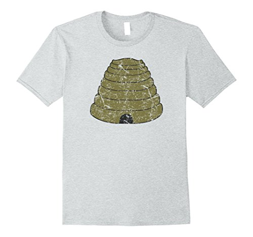 Beehive Halloween Costume (Mens BEEKEEPER Funny Bee Hive Honey Lover Halloween Costume Shirt Large Heather Grey)