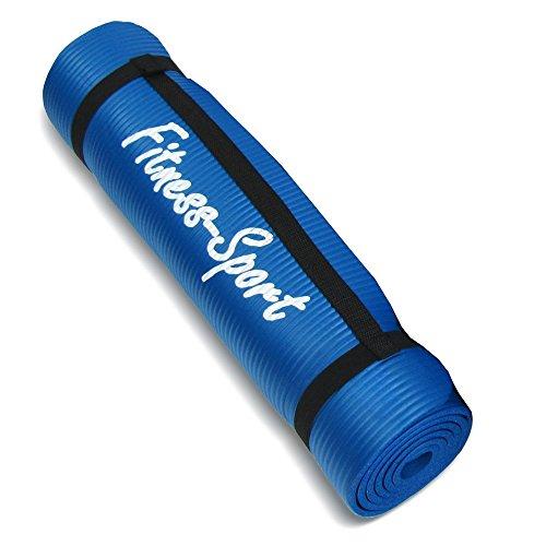 Gymnastikmatte, Fitness-Sport für Pilates, Yoga, Sport, Übungen, 0,8 cm, blau, 180 x 60 cm
