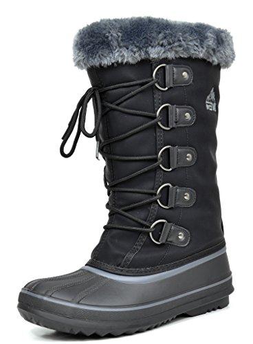 Arctiv8 Women's Berin Black Knee High Winter Snow Boots - 10 M US