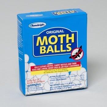 MOTH BALLS BOXED 4OZ ORIGINAL HOME BRIGHT, Case Pack of 24