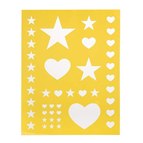 Darice 30018426 8.5X11 Stencil Heart ()