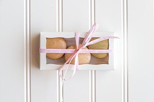 12 White Macaron Boxes- 4 5/16