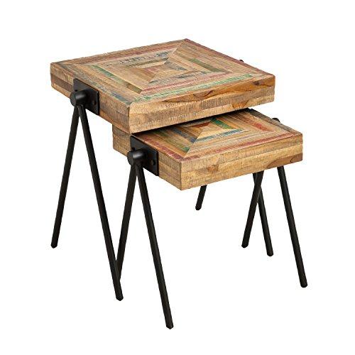 Cape Craftsmen Square Teak Nested Side Tables, Set of 2 For Sale