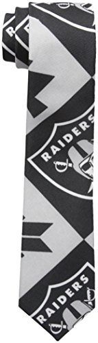 NFL Oakland Raiders Men's Patches Ugly Printed Tie, One Size, Black