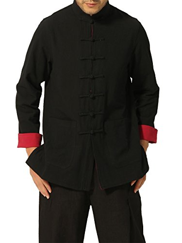 Bitablue Mens Chinese Traditional Style Reversible Cotton Shirt