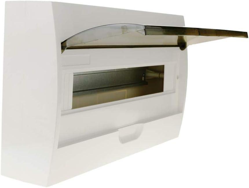 BeMatik - Caja de distribución eléctrica SPN 18M IP40 de Superficie de plástico ABS: Amazon.es: Electrónica