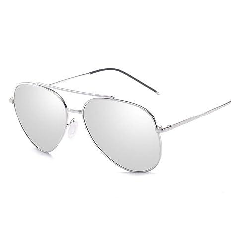 Unisex Gafas de Sol polarizadas Marco de Metal Redondo Tipo ...