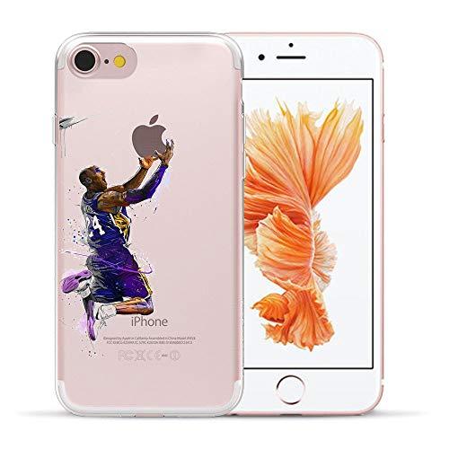 (1 piece HryCase NBA Star Basketball Kobe Jordan 23 James Print Matte Hard Plastic Case Cover For Apple iPhone 8 6 6S 7 Plus 5 5S X SE)