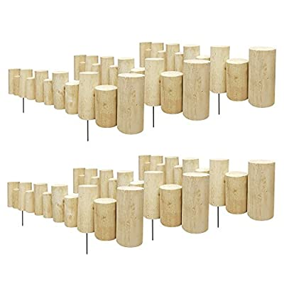 "Greenes Fence Pressure Treated Staggered Full Log Edging, 3"" W x 3' L x 5-7 H (6-Pack)"