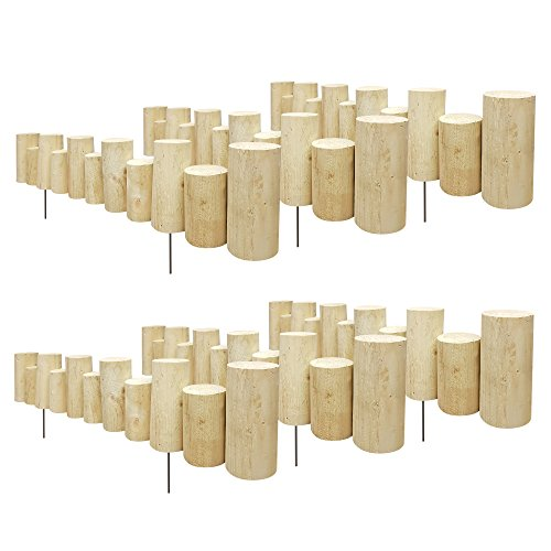 Greenes Fence Pressure Treated Staggered Full Log Edging, 3