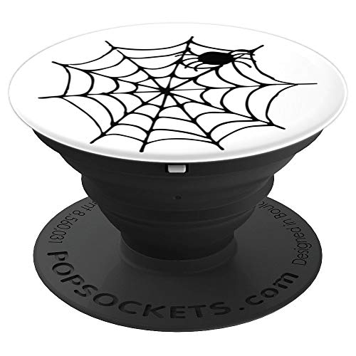 Cute and Fun Halloween Spiderweb - PopSockets Grip and Stand for Phones and Tablets