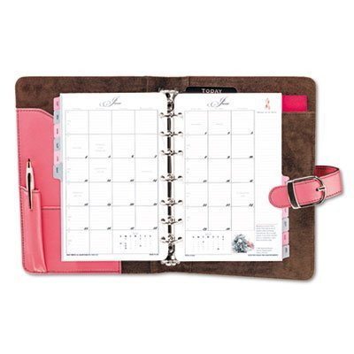 DTM48434 - DAYTIMER'S INC. Pink Ribbon Organizer Starter Set w/Leather Binder by - Pink Day Timer Ribbon