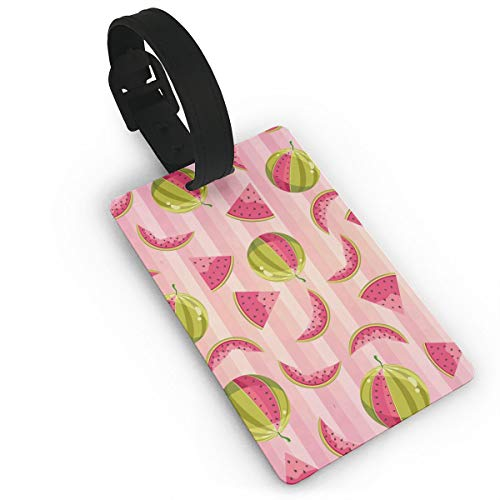 (Luggage Tags Pink Watermelon Suitcase Tags Holder Trendy Travel Gifts Labels Travel Accessories)