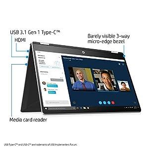 HP Pavilion X360 Convertible 15-Inch Laptop, Intel Core I5-8265U Processor, 8 GB SDRAM, 1 TB SATA & 128 GB Solid-State Drive Storage, Windows 10 Home (15-dq0010nr, Natural Silver)