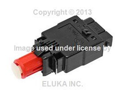 BMW Genuine Brake Light Switch with Red Locking Sleeve (4 Pin Connector) for 850Ci 735i 735iL 750iL 525i 530i 535i 540i M5 3.6 318i 318is 323i 325i 325is 328i M3 (E36 Brake Light Switch)