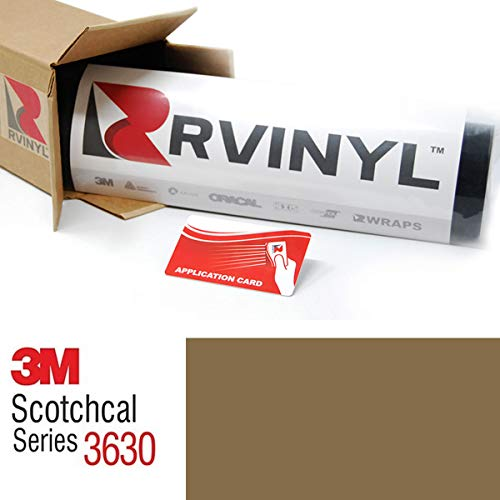 3M 3630 Gold Metallic 131 2ft x 10yd W/Application Card Scotchcal Translucent Graphic Vinyl Film Sheet Roll - for Cricut, Silhouette Cameo, Craft and Sign Cutters
