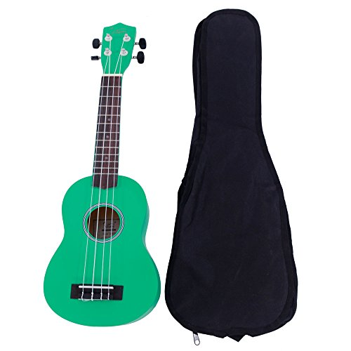 Glarry UK-101 21 Inch Pure Color Rosewood Fingerboard Basswood Soprano Ukulele with Carrying Bag for Beginner - Uk Colors
