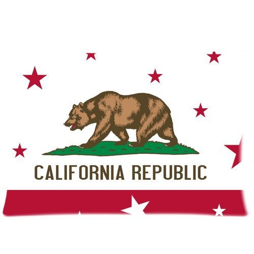 California Seal and flag Background Comfortable Cotton&Polye