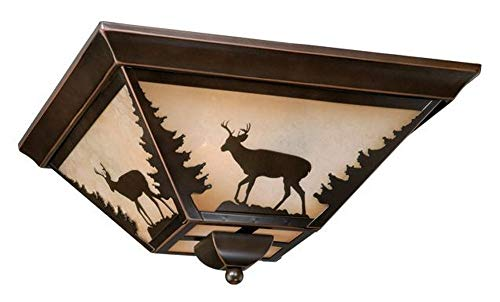 """Vaxcel CC55414BBZ Bryce Flush Mount, 14"""", Burnished for sale  Delivered anywhere in USA"""