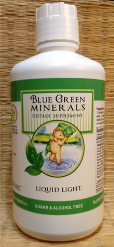 Blue Green Minerals with Calcium and Magnesium (32 oz Bottle) - Multi Mineral Supplement. BVO Free, Caffeine Free. by TriLight Health