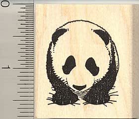 Baby giant panda rubber stamp arts crafts for Rubber stamps arts and crafts