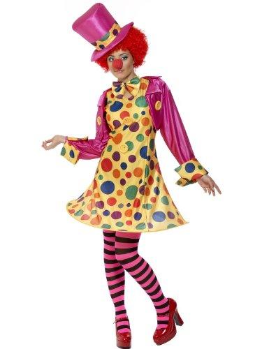 Female Circus Fancy Dress Clown Costume UK Dress 20-22