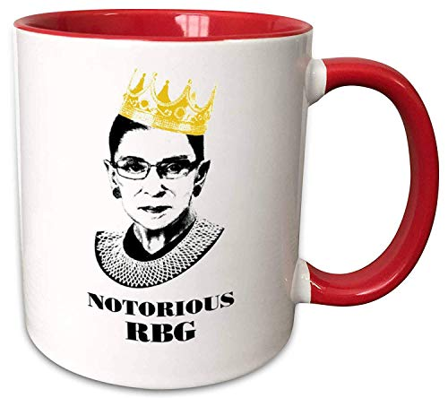 Notorious RBG Mug - Ruth Bader Ginsberg Giclee Coffee tea Mug Cup Gift for Law Students, Lawyers, Judges.Funny Progressive Feminism Protest Women Power feminist gift mug (11oz red)