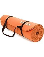 TOPLUS Verdikte gymnastiekmat, ftalaatvrije yogamat, antislip en gewrichtsvriendelijk, sportmat voor yoga, pilates, sport, met praktische draagband, pilatesmat, 183 x 61 x 1 cm