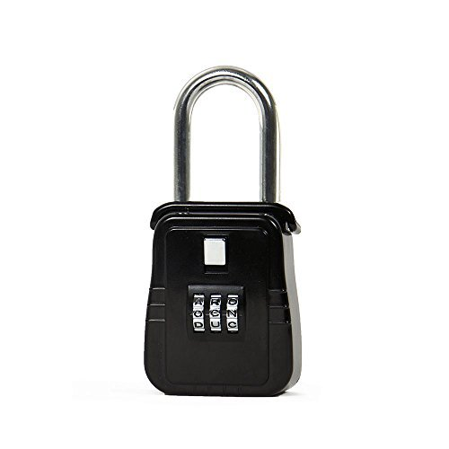 Hanging Lock Box / Padlock with Alpha Key Style, 3 Key Capacity