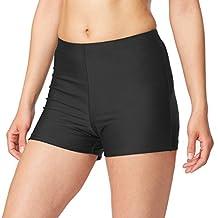 Baleaf Women's Basic High Waisted Boy Short Swim Bikini Bottom with Liner