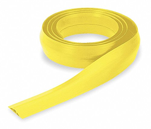Cable Protector, 1-Channel, Yellow, 10 ft. x 17/32''H, Max. Cable Dia.: 5/16''